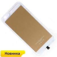 Ресивер - приемник Qi чехол беспроводной зарядки для телефона Apple iPhone 6 plus (золотой)